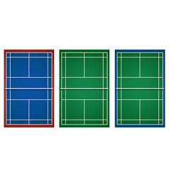 Three designs of tennis court vector