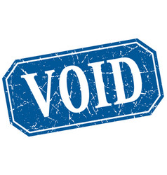 Void blue square vintage grunge isolated sign vector