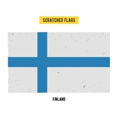 Finnish grunge flag with little scratches on vector