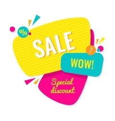 Advertising banner sale wow special discount vector