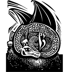 Dragon and Horde vector image