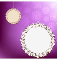 Purple lace ornament card  EPS8 vector image