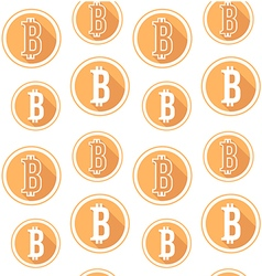 Bitcoin seamless pattern vector