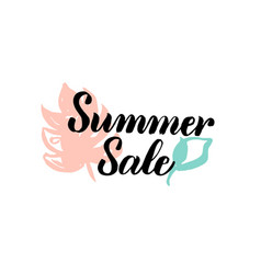 Summer sale calligraphy vector