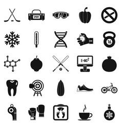 Without bad habbits icons set simple style vector