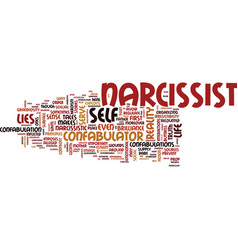 The narcissist s confabulated life text vector