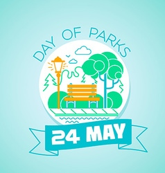 24 may day of parks vector