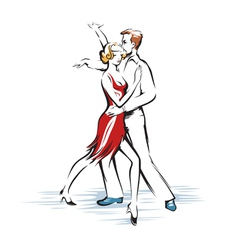 Abstract dancing couple vector