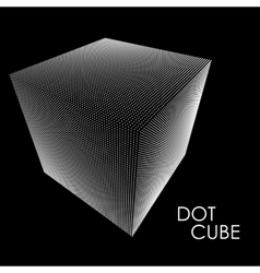 3d cube consists of points vector