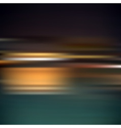 Abstract horizontal blur bokeh dark night vector
