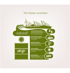 Infographics renewable nature vector
