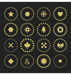 Retro style design elements vector