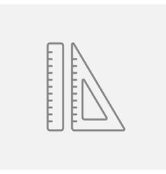 Rulers line icon vector