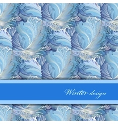 Horizontal stripe border design winter frozen vector