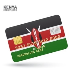 Credit card with kenya flag background for bank vector