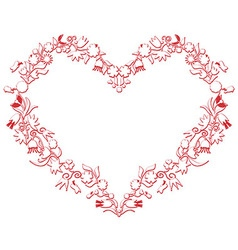 Valentines love heart shape with drawing3d effect vector