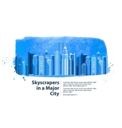 Skyscrapers in a major city vector