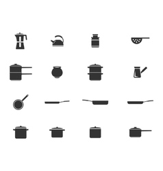 Dishes simply icons vector