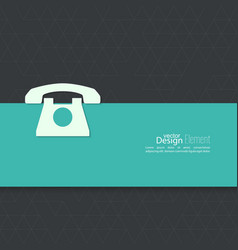 Abstract background with telephone vector image