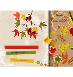 Scrapbooking set about autumn vector