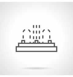 Row fountain black line icon vector image