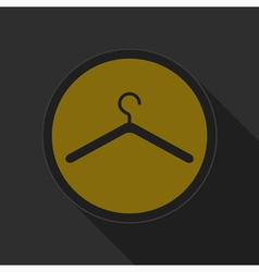 Dark gray and yellow icon - clothes hanger vector