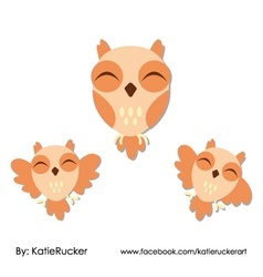 Happy owls vector