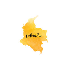 abstract colombia map vector image