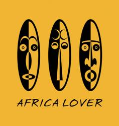 african lover vector image vector image