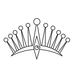 Big crown icon outline style vector