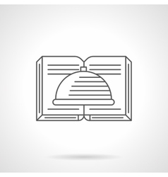 Book of recipes flat line icon vector