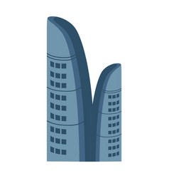 business centre isolated icon vector image