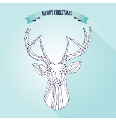 Christmas deer on light background vector image