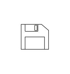 diskette icon flat design style diskette icon vector image