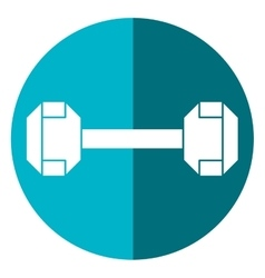 Dumbbell weight fitness gym icon shadow vector