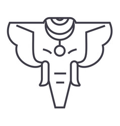 elephant line icon sign on vector image