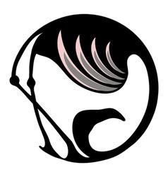 Flamingo symbol vector