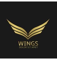 Golden wings logo vector image vector image