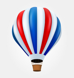 Hot air balloon in flight isolated on white vector