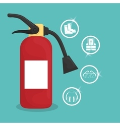 Industrial security Safety icon Flat design vector image vector image
