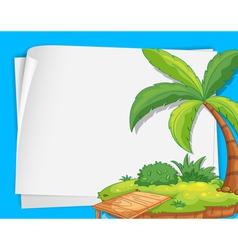 Island Border Decoration vector image vector image