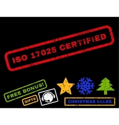 Iso 17025 certified rubber stamp vector