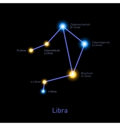 Libra Constellation Space Stars Background vector image