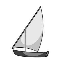 Little river sailing for funthe boat which sails vector