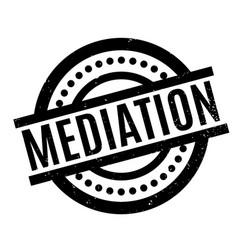 Mediation rubber stamp vector