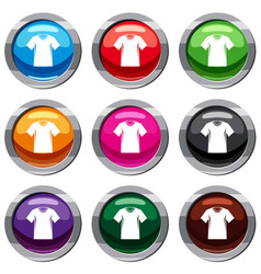 Men tennis t-shirt set 9 collection vector
