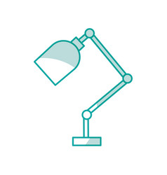 Office desk lamp isolated icon vector