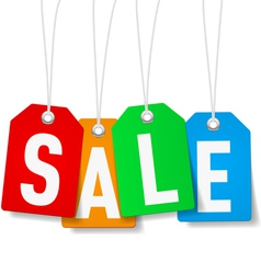 Price tags with Sale word vector image