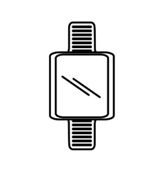 Smart watch wearable blank screen outline vector
