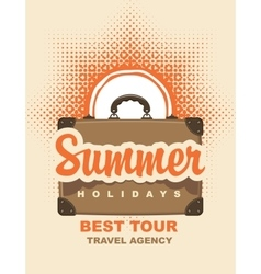 summer holidays and sun vector image vector image